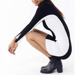 NEW Urban Outfitters Luna Colorblock Sweater Dress